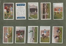collectable Cigarette card set Footballers in Action blue back 1927 set